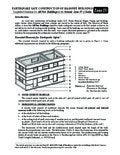 EARTHQUAKE SAFE CONSTRUCTION OF MASONRY BUILDINGS