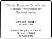 Climate, Economic Growth, and Natio...