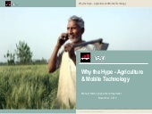 Why the Hype - Agriculture & Mobile...