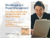 Microblogging in Project Management...