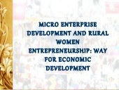 Micro enterprise development and ru...