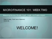Microfinance 101 Session 2 - Profes...