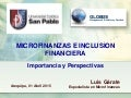 Microfinanzas e Inclusion Financiera