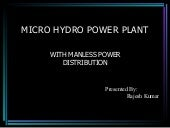 Micro hydro power plant