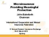 Microinsurance presentation made by...