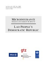 Microinsurance - Demand and Market ...