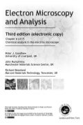 Chemical analysis in the electron microscope