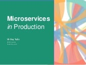 Microservices in production