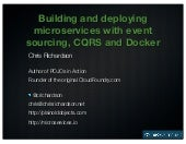 Building and deploying microservices with event sourcing, CQRS and Docker (HackSummit 2014)