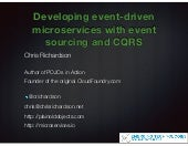 Developing event-driven microservices with event sourcing and CQRS (phillyete)