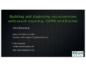 Building and deploying microservices with event sourcing, CQRS and Docker (QCONSF 2014)