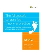 The Microsoft Carbon Fee: theory & ...