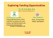 AYUSH Funding Opportunities