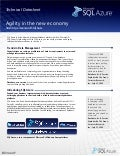 Microsoft SQL Azure - Agility in the New Economy Technical Datasheet