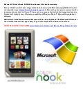 Microsoft tablet e-book $300 million Barnes & Noble Partnership