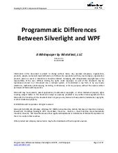 Microsoft Wpf Silverlight Compariso...