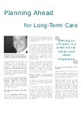 Planning Ahead for Long-Term Care Benefits - Brian Johnson, National Long Term Care Brokers