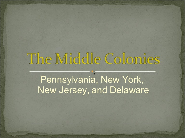 Middle Colonies Religion