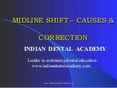 Midline shift /certified fixed orthodontic courses by Indian dental academy