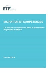 Migration and skills in morocco