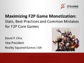 R2Games: Maximizing F2P Monetization Presentation from the Montreal International Games Summit 2014 (MIGS 2014)