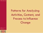 Patterns for Analyzing Activities, ...
