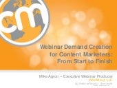Webinar Demand Creation for Content...