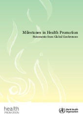 Milestones health promotion ok