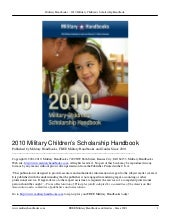 Military childrens scholarship hand...