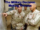 Military Decision Making Process (M...