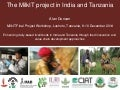 The MilkIT project in India and Tanzania