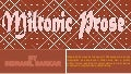 Miltonic prose   by is