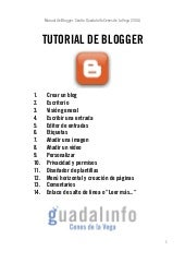 Tutorial blogger (2014)