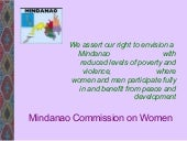 Mindanao Commission on Women by Mar...