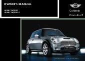 Mini Cooper Owners Manual 2002