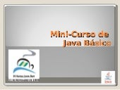 Mini Curso Java Day(Eliane Raquel)
