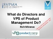 What do Directors and VPS of Product Management Do?