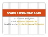 Chapter 1 Organization & MIS