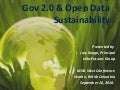 Gov 2.0 and Open Data Sustainability
