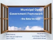 Municipal Open Government Framework...