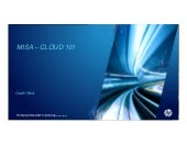 MISA Cloud workshop - Cloud 101