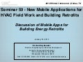 Discussion of Mobile Apps for Building Energy Retrofits