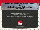 Vehicle Speeds in Work Zones: An Ob...