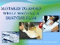 Mistakes to avoid when writing a business plan