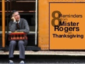 8 Thanksgiving Day Reminders from Mister Rogers
