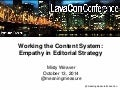 Misty Weaver LavaCon Empathy in Editorial Strategy 2014