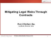 Mitigating Risks Through Contracts ...