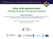 Value of Ecosystem Services - Putti...