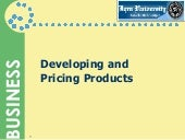 Developing and Pricing Products Ch:...