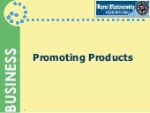 Promoting Products Ch:3 for MBA